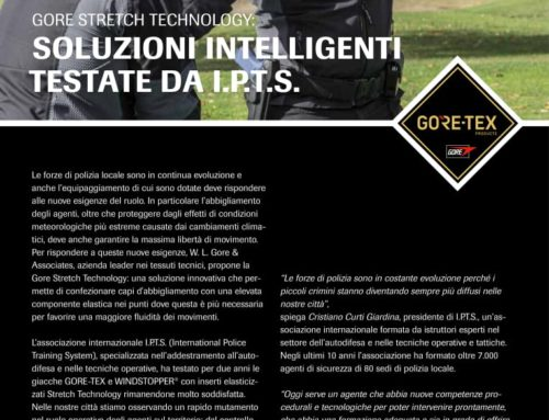 GORE STRETCH TECHNOLOGY: SOLUZIONI INTELLIGENTI TESTATE DA I.P.T.S.